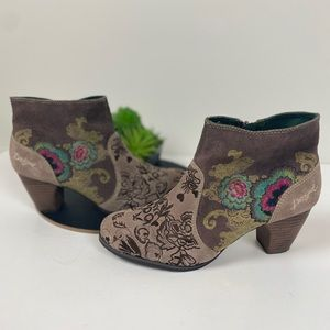 Desiugal Patchwork Print Boots Size 40